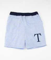 Blue Gingham Boy Shorts