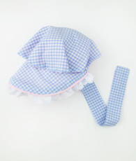 Blue Gingham Bonnet