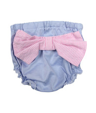 Blue oxford bow bloomers