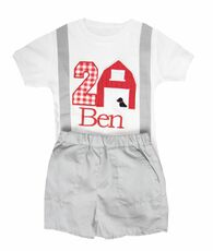 Barn Birthday Onesie And Shorts