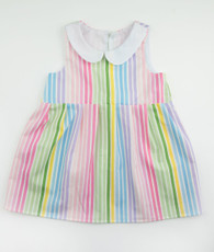 Rainbow peter pan collar dress