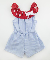 Red and Blue Annie Romper
