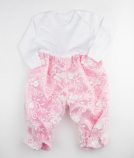 Pink Floral Tee shirt romper
