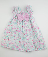 Blue and pink flamingo sweetie pie dress