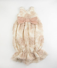 Cream embroidery lace bunt sack