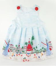 Blue and red beach janie mae dress
