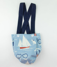 Blue sailboat susppender bloomers
