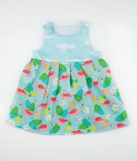 Blue flamingo janie mae dress
