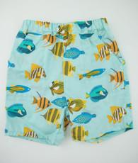 Blue fish boy shorts