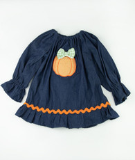 Denium pumpkin fall priscilla dress