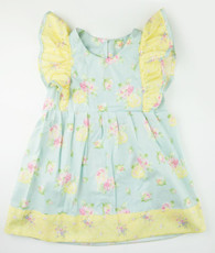 Yellow and blue floral Pinafore dress