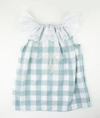 Aqua and white check Priscilla Dress