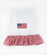 American Flage Ruffle T-Shirt
