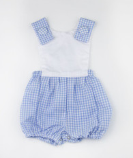 Blue and white check Jack Romper