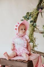 Pink floral mono Jill Romper
