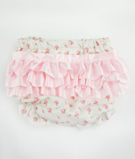 Cream Floral Bloomers