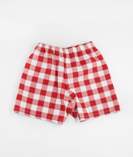 Red Plaid Boy Shorts