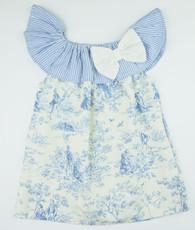 Blue and cream priscilla dress