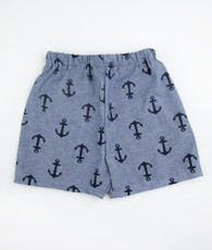 Navy anchor shorts