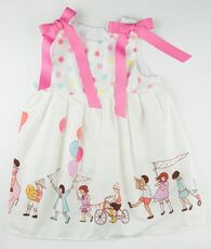 Pink and white party janie mae dress