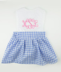 Blue and pink check charlotte dress