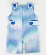 Blue and white gingham jon jon