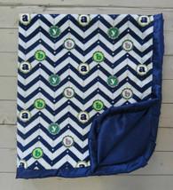 Blue chevron letter blanket