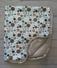 Blue dot satin blanket