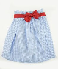 Blue and white gingham ribbon skirt