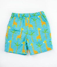 Blue and orange giraffe shorts