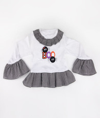 Black and white Boo T-shirt