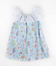 Aqua Stripe Sea Animal Priscilla Dress