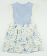 Blue and cream seersucker vintage dress