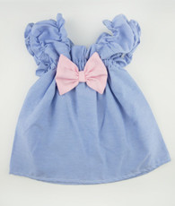 Blue and pink oxford sweetie pie dress