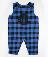 Blue and black plaid jon jon