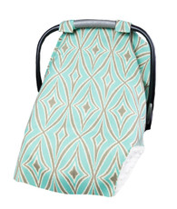 Gray and blue car seat cover