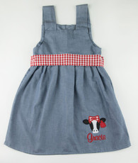 Denim cow face Kelley Dress