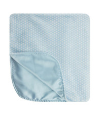 Blue and white dot blanket
