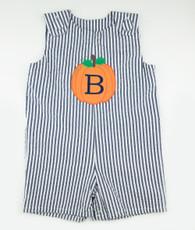 Navy and white stripe pumpkin jon jon