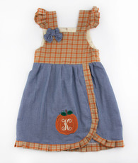 Orange plaid pumpkin kelley dress