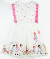 Pink and white dot circus dallas dress