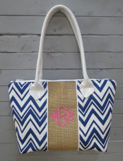 Blue and White Chevron Harper