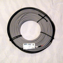 "7mm or 1/4 inch diameter twin conductor heating cable.  12 W/F max 50 W/SF.  Covers 100-143 SF""in concrete or under asphalt"