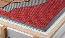 Decoupling membrane compatible with Ditra-Heat(tm) and other similar products.