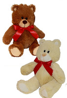 """Tan & Brown Stuffed Teddy Bears - 8"" high"""