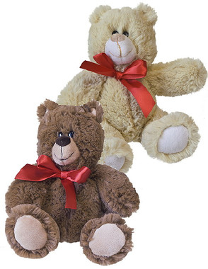 """Tan & Brown Stuffed Teddy Bears - 7"" high"""