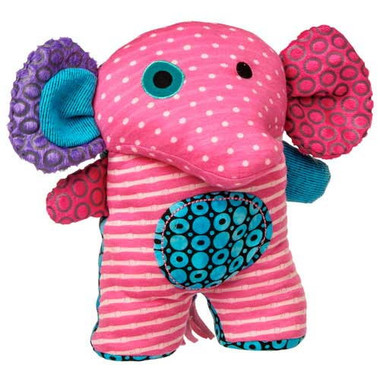"""Dark Pink Stuffed Plush Elephant - 10"" high"""