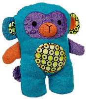 """Aqua Blue Stuffed Monkey with Embroidered Face - 10' high"""