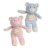 """Pink & Blue Teddy Bear Rattles -  6½"" high"""