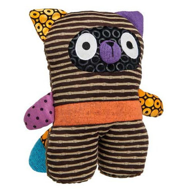 """Brown Stripe Stuffed Toy Raccoon - 10"" high"""